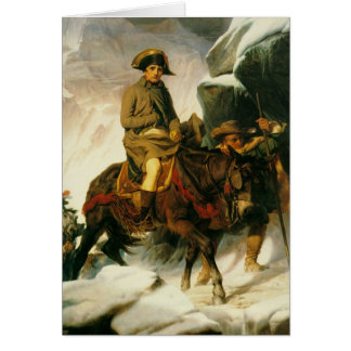 napoleon crossing the alps greeting cards