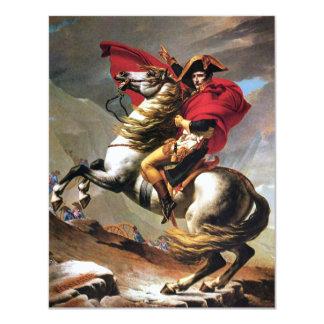 """Napoleon Crossing the Alps Invitations 4.25"""" X 5.5"""" Invitation Card"""