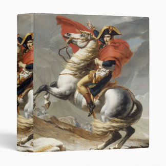 Napoleon Crossing the Alps - Jacques-Louis David 3 Ring Binder