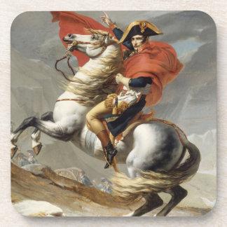 Napoleon Crossing the Alps - Jacques-Louis David Beverage Coaster
