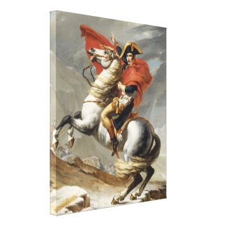 Napoleon Crossing the Alps - Jacques-Louis David Canvas Print