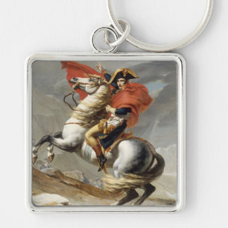 Napoleon Crossing the Alps - Jacques-Louis David Keychain