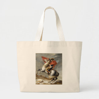 Napoleon Crossing the Alps - Jacques-Louis David Large Tote Bag