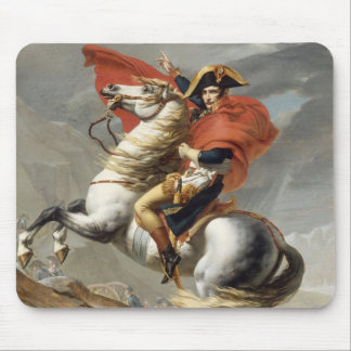 Napoleon Crossing the Alps - Jacques-Louis David Mouse Pad