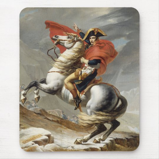 Napoleon Crossing the Alps -- Jacques-Louis David Mouse Pad