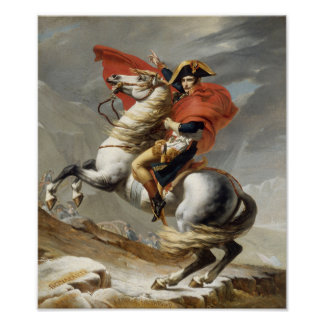 Napoleon Crossing the Alps -- Jacques-Louis David Print