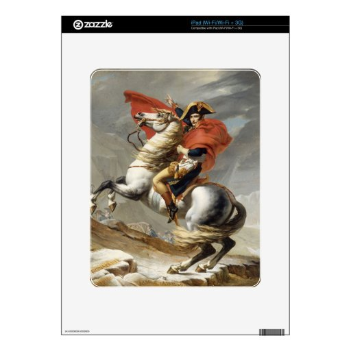 Napoleon Crossing the Alps - Jacques-Louis David iPad Decal