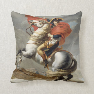 Napoleon Crossing the Alps - Jacques-Louis David Throw Pillow