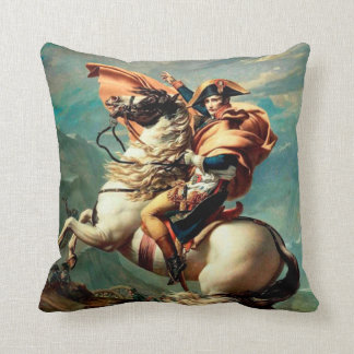 Napoleon Crossing the Alps | Jacques Louis David Throw Pillow