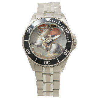 Napoleon Crossing the Alps - Jacques-Louis David Watch