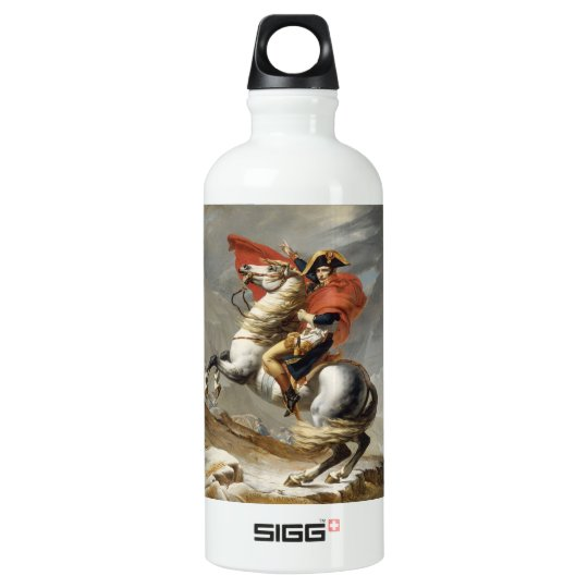 Napoleon Crossing the Alps - Jacques-Louis David Water Bottle