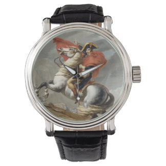 Napoleon Crossing the Alps - Jacques-Louis David Wrist Watch