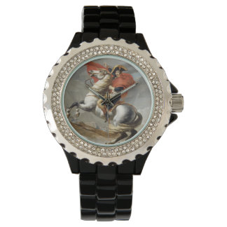 Napoleon Crossing the Alps - Jacques-Louis David Wristwatch