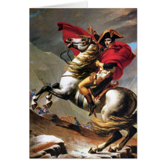 Napoleon Crossing the Alps Note Card