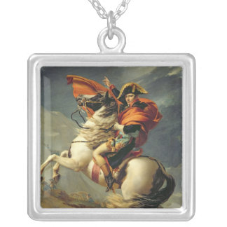 Napoleon Crossing the Alps on 20th May 1800 Silver Plated Necklace
