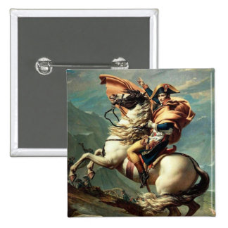 Napoleon Crossing the Alps Pinback Button