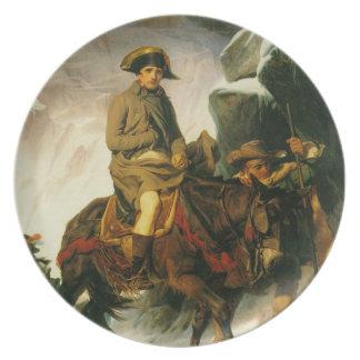 napoleon crossing the alps plate