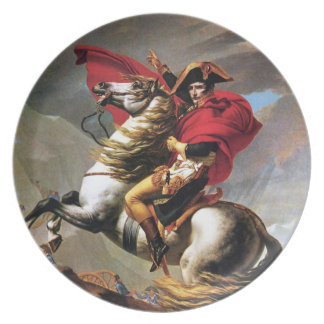Napoleon Crossing the Alps Plate