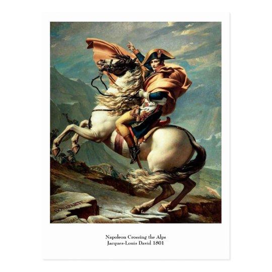 Napoleon Crossing the Alps Postcard