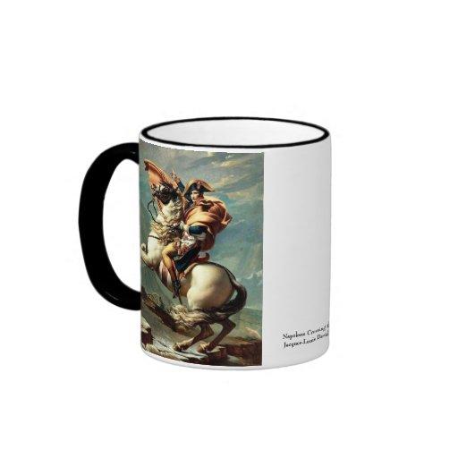 Napoleon Crossing the Alps Ringer Coffee Mug