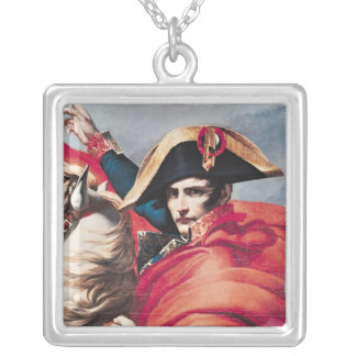 Napoleon  Crossing the Alps Silver Plated Necklace