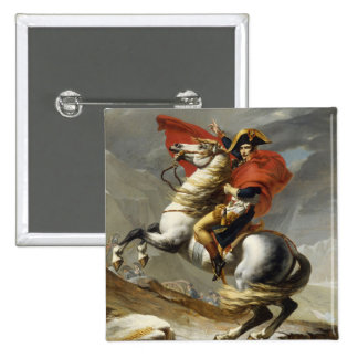 Napoleon Crossing the Grand Saint-Bernard Pass 2 Inch Square Button