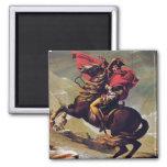 Napoleon Crossing the Saint Bernard 2 Inch Square Magnet
