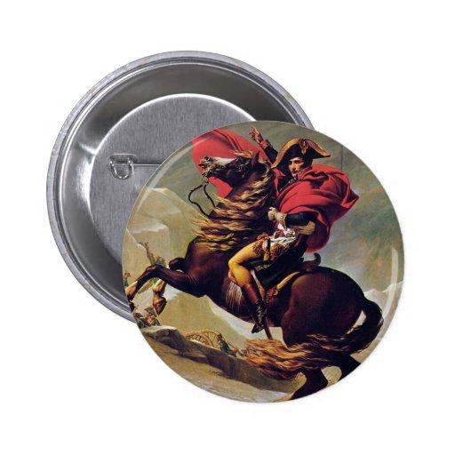 Napoleon Crossing the Saint Bernard Pinback Buttons