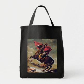 Napoleon Crossing the Saint Bernard Grocery Tote Bag