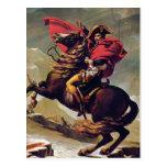 Napoleon Crossing the Saint Bernard Postcard