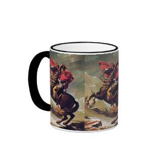 Napoleon Crossing the Saint Bernard Ringer Coffee Mug