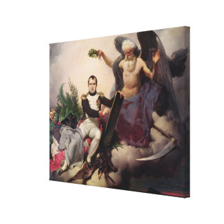 Napoleon  Crowned by Time, before 1833 Canvas Print