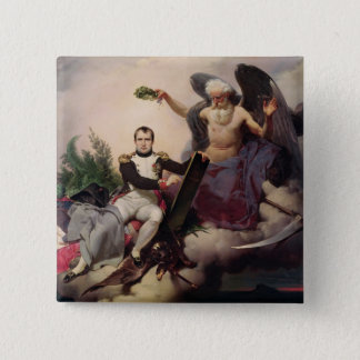Napoleon  Crowned by Time, before 1833 Pinback Button