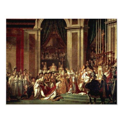 Napoleon Crowned Empress Josephine By David Jacque 4.25x5.5 Paper Invitation Card