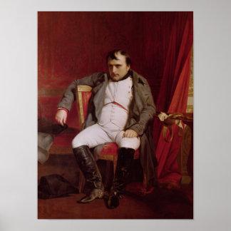 Napoleon después de su abdicación póster