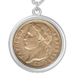 Napoleon Empereur Gold Coin Round Pendant Necklace