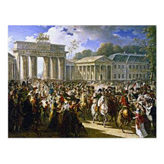 Napoleon en Berlín cerca de la puerta de Brandebur Postal