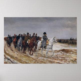 Napoleon en campaña en 1814, 1864 póster