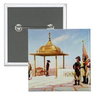 Napoleon en El Cairo, 1798 Pin Cuadrado