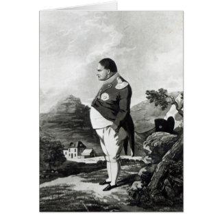 Napoleon en la isla de St. Helena, 1820 Tarjetas