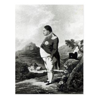 Napoleon en la isla de St. Helena, 1820 Tarjeta Postal