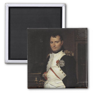 Napoleon en su estudio de Jacques Louis David Imán Cuadrado