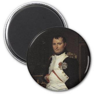 Napoleon en su estudio de Jacques Louis David Imán Redondo 5 Cm