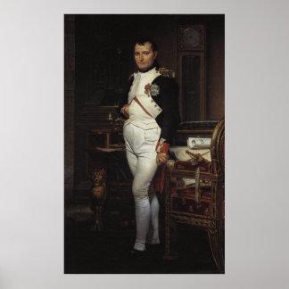 Napoleon en su estudio de Jacques Louis David Póster