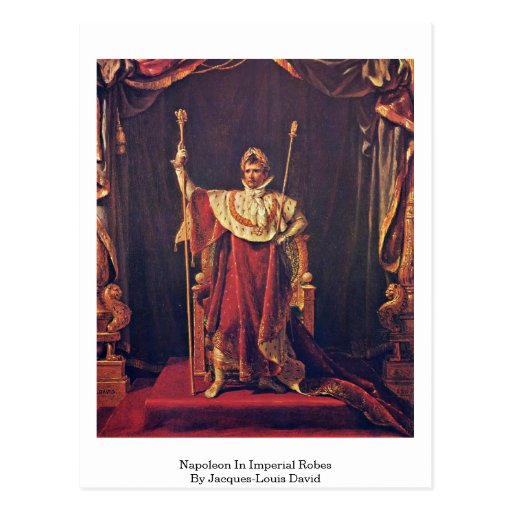 Napoleon en trajes imperiales de Jacques-Louis Dav Tarjetas Postales