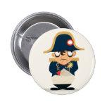 Napoleon en un botón pin