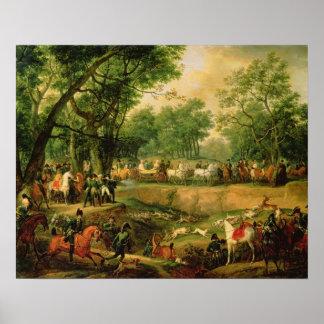 Napoleon en una caza en el bosque de Compiegne, 18 Impresiones