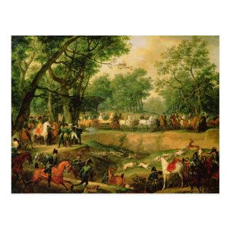 Napoleon en una caza en el bosque de Compiegne 18 Postales