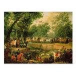 Napoleon en una caza en el bosque de Compiegne, Tarjeta Postal