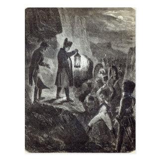Napoleon extricating Lannes' Artillery Postcard
